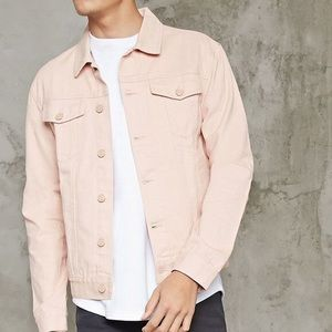Men's Pink Jeans Jacket